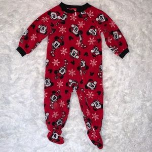 Disney Mickey Mouse Christmas Fleece Pajama 24 M